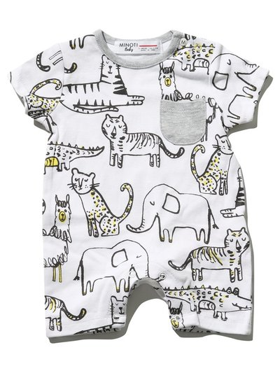 Minoti animal romper (Newborn - 6 mths)