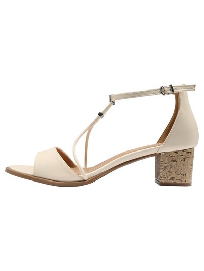 Strupel cross trim block heel
