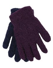 Fleece glitter gloves two pack