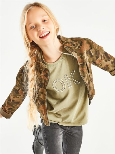 Diamante slogan t-shirt (3-12yrs)
