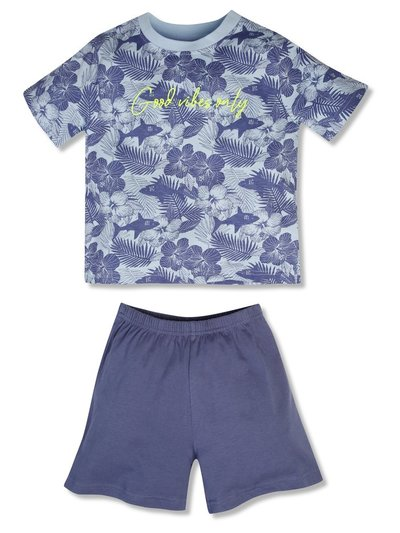 Slogan print pyjama set (4-12yrs)