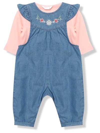 Denim dungarees and bodysuit set (Newborn-18mths)