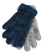 Teens' eyelash knit gloves two pack