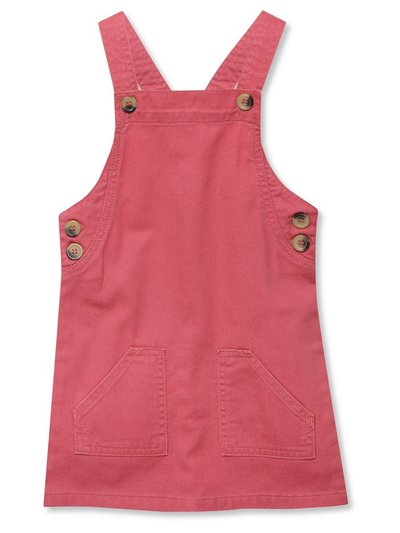Khaki denim pinafore dress (9mths-5yrs)