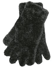 Eyelash knit gloves
