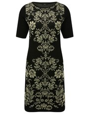 Baroque shift dress