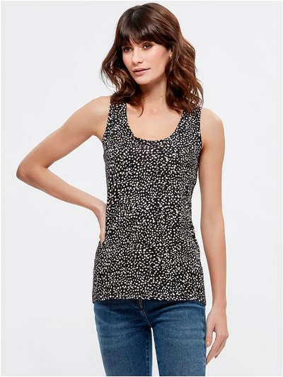 Animal scoop neck vest top