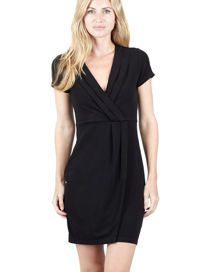 Izabel wrap front bodycon dress