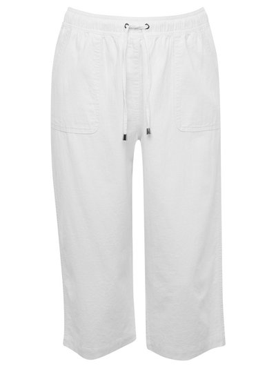 Plus cropped linen trousers
