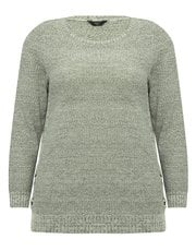 Plus metallic lace up jumper