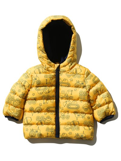 Truck print padded jacket