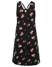 Teen floral pinafore dress
