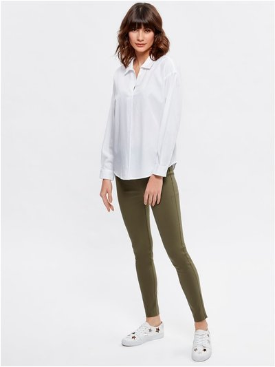 Khaki stretch trousers