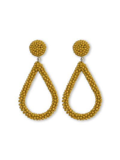 Muse chartreuse mini bead drop earrings