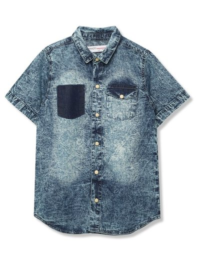 Minoti acid wash shirt (8 - 13 yrs)
