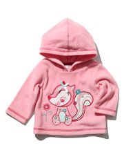 Hooded squirrel applique sweater