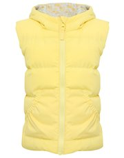 Floral reversible padded gilet
