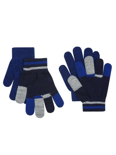Colour block gloves two pack