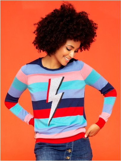 Khost Clothing lightning bolt stripe jumper