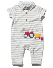 Tractor stripe rompersuit