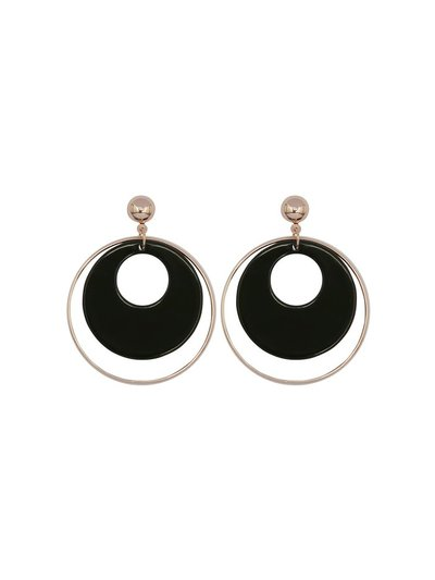 Double loop circle earrings
