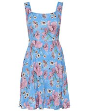 JDY bird print fit and flare dress