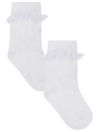Broderie anglaise frill socks two pack