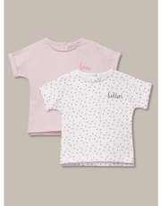 Patterned t-shirts two pack (newborn-18mths)