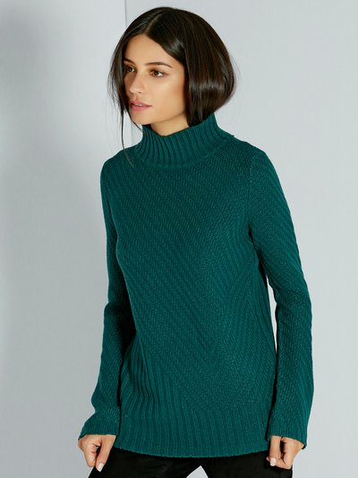 Ribbed flare sleeve jumper