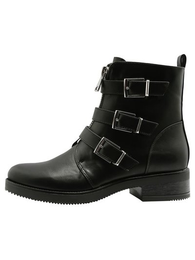 Awesome multi buckle biker boot