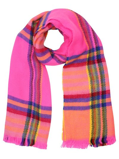 Teen neon check scarf