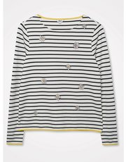 Khost Clothing embroidered daisy stripe top