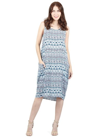 Izabel tribal print smock dress