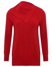 Petite split roll neck jumper