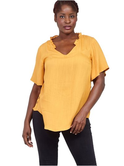 Izabel Curve ruffle neck blouse