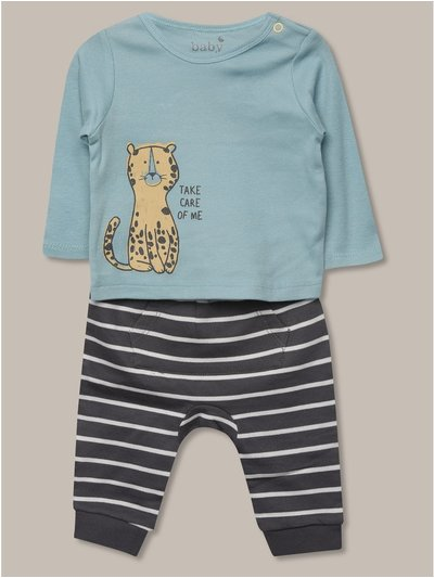 Take care of me sweatshirt and jogger set (newborn-18mths)