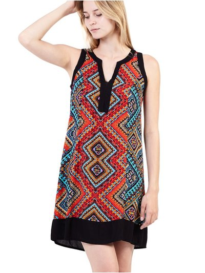 Izabel tribal print shift dress