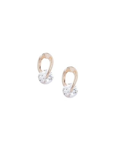 CZ Ornate Loop Earrings