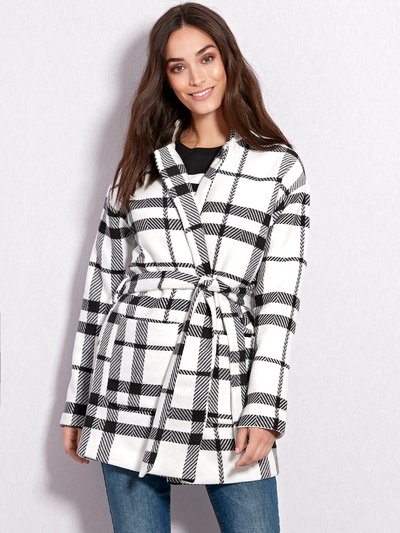 JDY check belted jacket