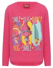 Trolls smile hug dance top