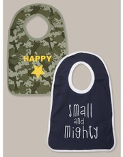 Camouflage slogan bibs two pack