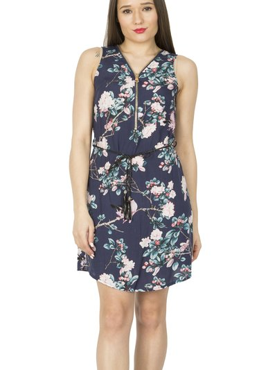 Izabel floral zip front skater dress