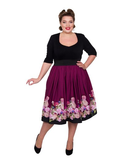 Scarlett and Jo plus floral 2-in-1 dress