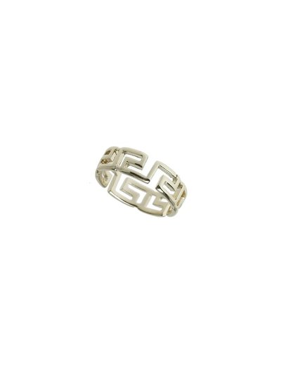 Gold Geo Band Ring