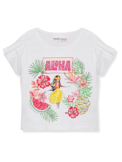 Minoti tropical t-shirt (3 - 13 yrs)