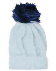 Teens' pom pom bobble hat