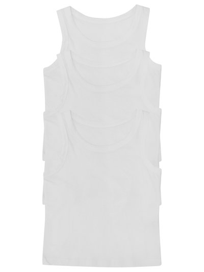 Cotton vests three pack (2-12yrs)
