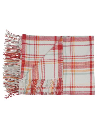 Autumn check throw