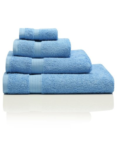 Light blue combed cotton bath towel