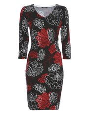 Roman Originals floral print knitted dress